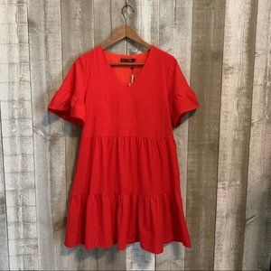 {FancyInn} NWT Red Tunic Dress NWT